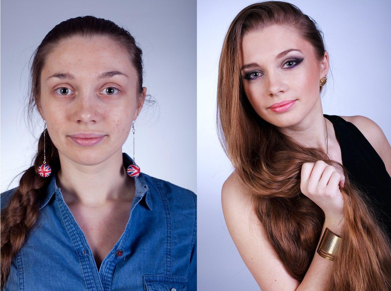 Работа визажиста до и после фото
