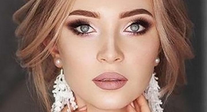 Красивый свадебный макияж для блондинки