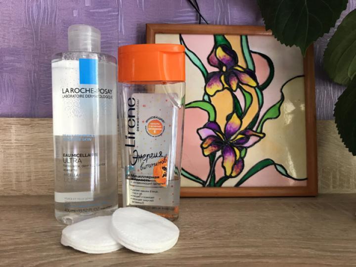 Очищение кожи, снятие макияжа мицеллярной водой