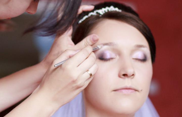 свадебный макияж Вишневое
