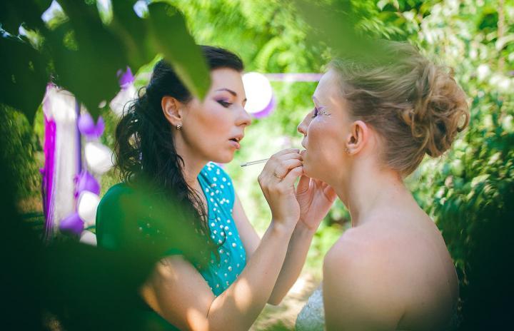 визаж для невесты и подружек