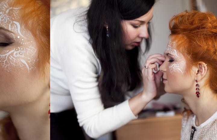 свадебный макияж с ресницами