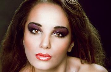 макияж с блеском на веках
