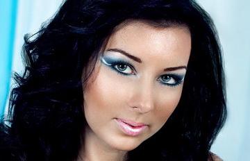 голубые тени макияж
