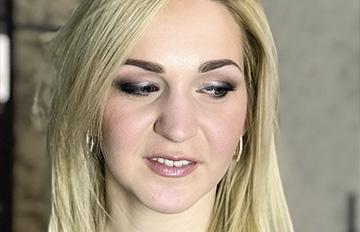 макияж серый с розовым