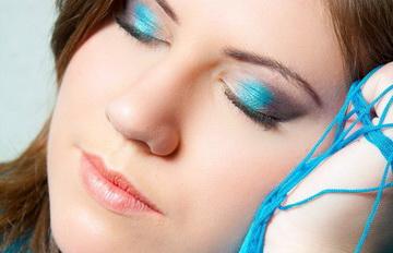 макияж бирюзовые тени
