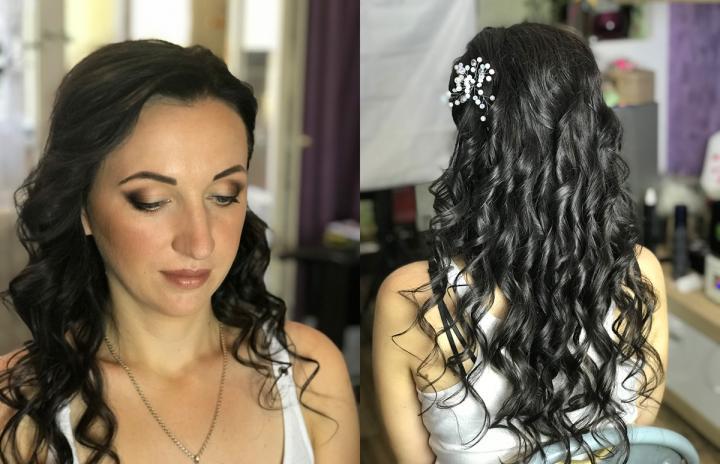 Вечерний макияж и прическа Троещина