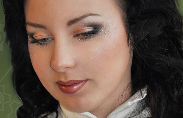 свадебный макияж стразы