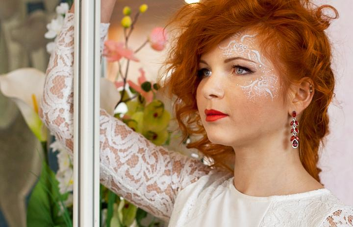 свадебный макияж аквагрим