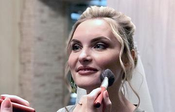 свадебный макияж акварель