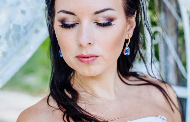 цветной свадебный макияж