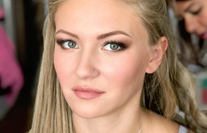 свадебный макияж для блондинки